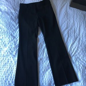 New York and Co black straight leg petite trousers